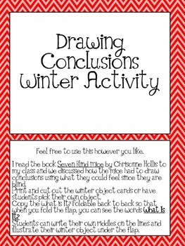 Drawing Conclusions- What is It? (winter riddles)