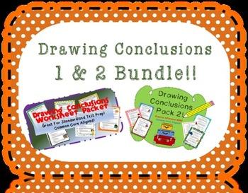 Drawing Conclusions Worksheet Bundle! (D.C. Pack 1 & 2)