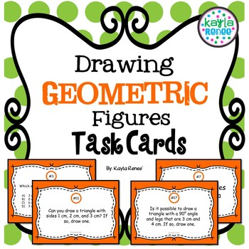 Drawing Geometric Figures Task Cards: 7.G.2
