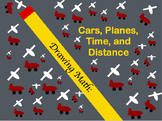 Drawing Math: Cars, Planes, Time, and Distance