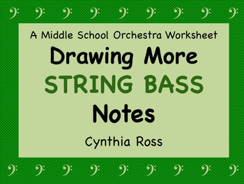 Drawing More String Bass Notes