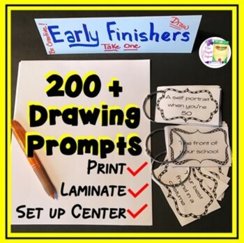 Drawing Prompts - Art - Bulletin Boards - Lessons - Sub