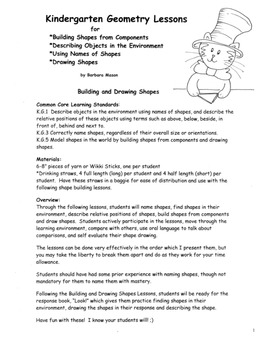 Drawing and Constructing Shapes PACK Common Core Lesson Pl