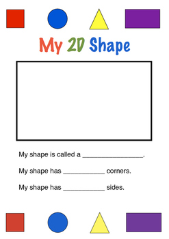 Drawing and Describing 2D Shapes Worksheet
