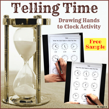 Drawing hands to clock activity