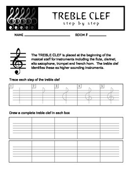 Drawing the Treble Clef
