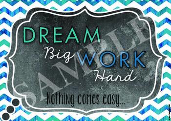 Dream Big, Work Hard poster