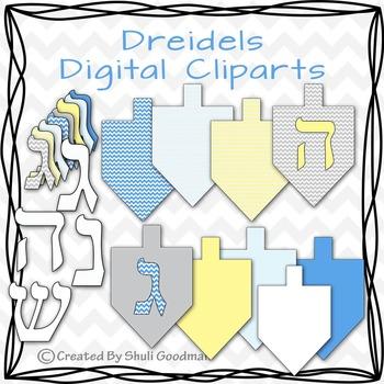Dreidels - Hannukkah clipart