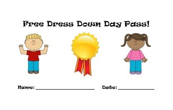 Editable Dress Down Day Passes