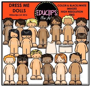 Dress-Me-Dolls Clip Art Bundle {Educlips Clipart}