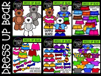 Dress Up Bears {Creative Clips Digital Clipart}
