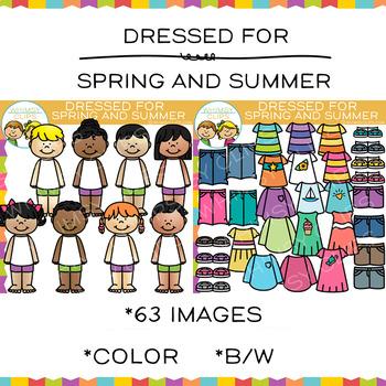 Dress for Spring or Summer Clip Art