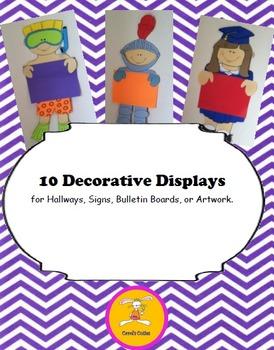Dress up Kids Decorative Displays for Writing, Art, or Bul