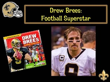 Drew Brees Football Superstar by Mike Artell PowerPoint &