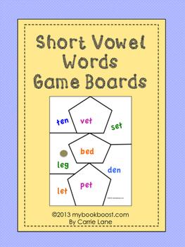 Short Vowels Game Boards