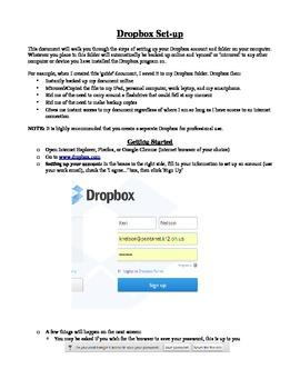 Dropbox Step by Step Setup Guide