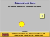 Chemistry - Dropping Ions Game Software