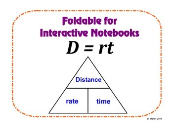 D=rt Foldable for Interactive Notebooks