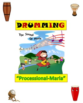 """Drumming/Rhythm Stick Activity: """"Processional-Maria"""" from"""