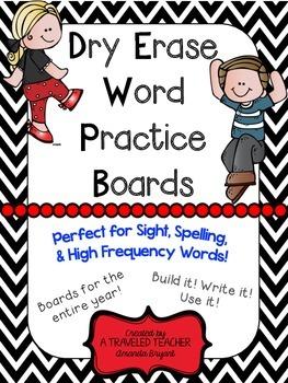 Dry Erase Word Practice Boards