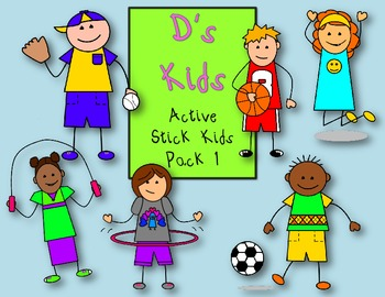 D's Kids Active Stick Kids Pack 1 For Personal/Commercial Use