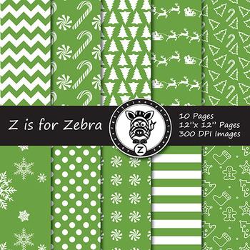 Dual Fill Christmas Digital Paper Pack 2 - CU OK! { ZisforZebra }