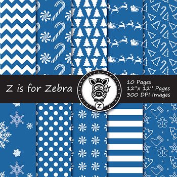 Dual Fill Christmas Digital Paper Pack 6 - CU OK! { ZisforZebra }