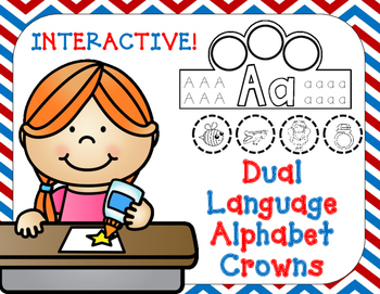 Dual Language Alphabet Crowns:  Beginning Sound Crowns in