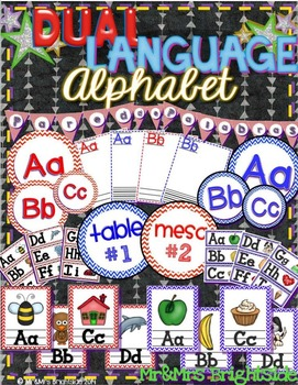 Dual Language Alphabet & Word Wall Letters