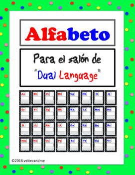 Dual Language Alphabet for Kids English and Spanish -bright