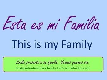 Dual Language Book- Spanish- Our Family-Nuestra Familia