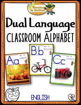 Dual Language - Classroom Alphabet English version (with p