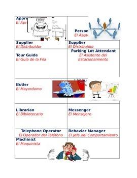 Dual Language - Classroom Job Description Cards in English