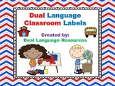 Dual Language Classroom Labels:  Gomez and Gomez Style  EDITABLE