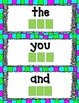 English Sight Words Literacy Center:  letter tile word work.