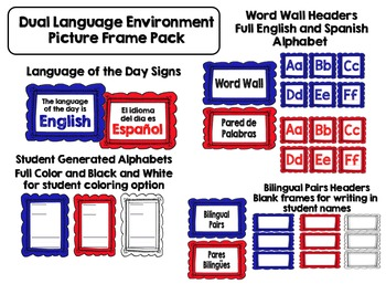 Dual Language Environment 1 Frame Pack for Gomez and Gomez