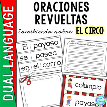 Spanish Scrambled Sentences for Dual Language/Bilingual: