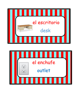 Dual Language Labels with pictures and Spanish articles (19)
