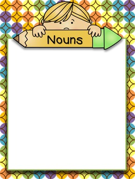Noun/Sustantivos Sorting Game and Worksheets - Dual Langua