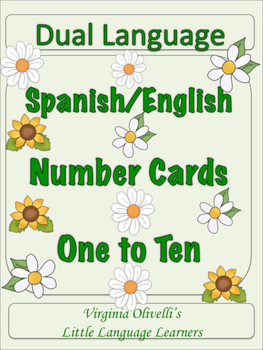 Spanish Dual Language Numbers 1-10 for ESL Resources and A