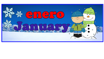 Dual Language: The 12 Months Calendar Headers