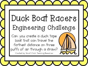 Duck Boat Racers: Engineering Challenge Project ~ STEM Activity!