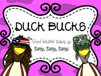 Duck Bucks- A Classroom Management Tool
