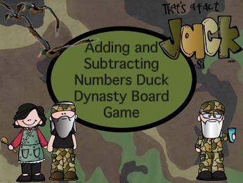Duck Dynasty Adding and Subtracting Numbers Board Game