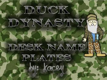 Duck Dynasty Desk Name Plates