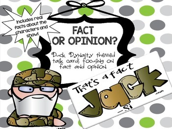 Duck Dynasty Fact and Opinion Task Cards