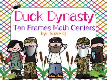 Duck Dynasty Ten Frames Math Centers