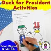 Duck For President Kindergarten Literacy Activities