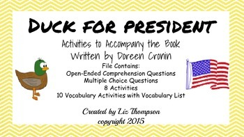 Duck for President - Activities to Accompany the Book