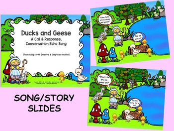 Ducks & Geese: Call/Response Song w/ Activity Pages: (PPT
